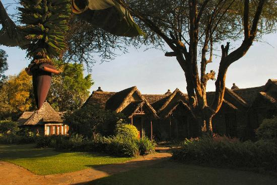 Lake Duluti Serena Hotel: Loved the darling thatched roofs and cute shapes of the rooms.