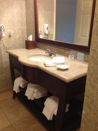 Hampton Inn Savannah - Historic District: huge bathroom
