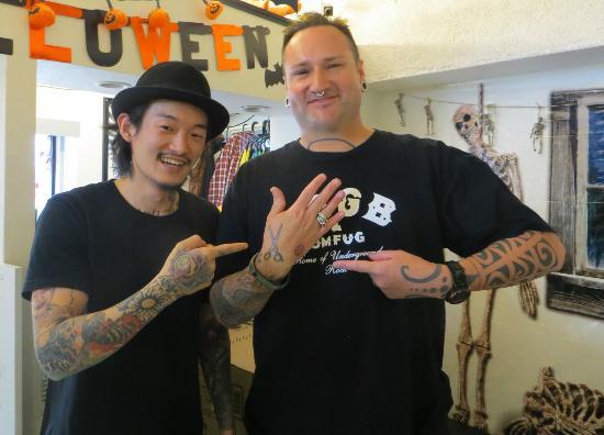 Shibuya Center-gai: YU-KI, tattoo artist at Sunsqlit