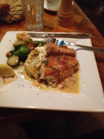 BRAVO! Italian Restaurant & Bar: redfish filet w/ fall veg