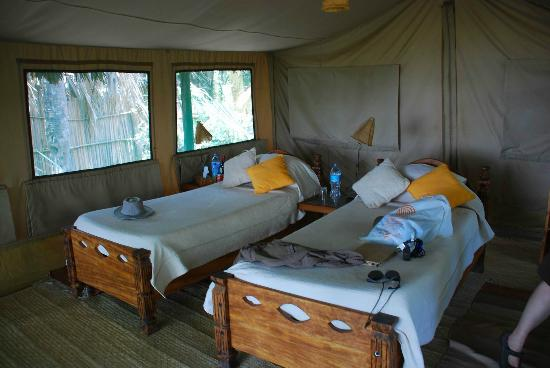 Kisima Ngeda Tented Camp: Very comfortable memory foam mattresses. Good ventilation, too.