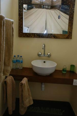 Kisima Ngeda Tented Camp: Neat sink for a tent, huh?!
