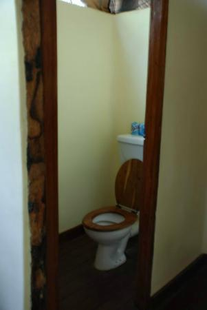 Kisima Ngeda Tented Camp: OK so it's a toilet but it has a seat and flushes!