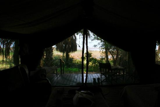 Kisima Ngeda Tented Camp: View from tent #1 from the bed!