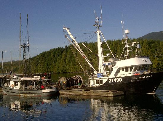 Water's Edge Shoreside Suites: Ucluelet is a working fishing village.