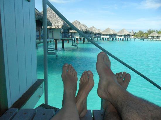 Le Meridien Bora Bora: Overwater Bungaloo #322 View