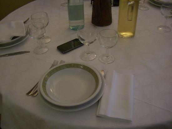 Ristorante Rigoletto: la tavola