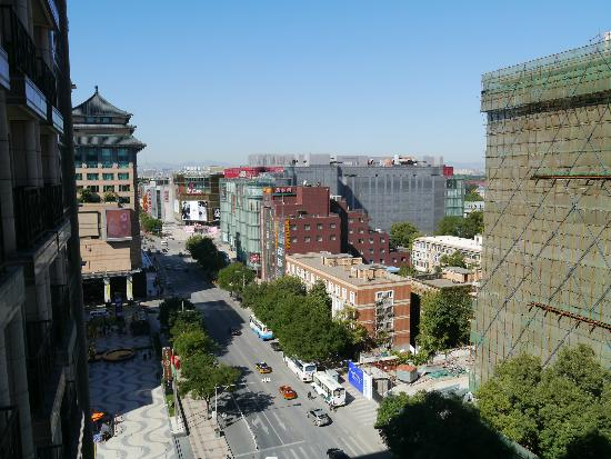 Lee Garden Service Apartment Beijing: View from the 12th floor - Jinyu Hutong towards Wangfujing St