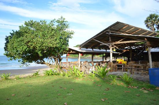 Klong Jark Bungalows: The restaurant terrasse