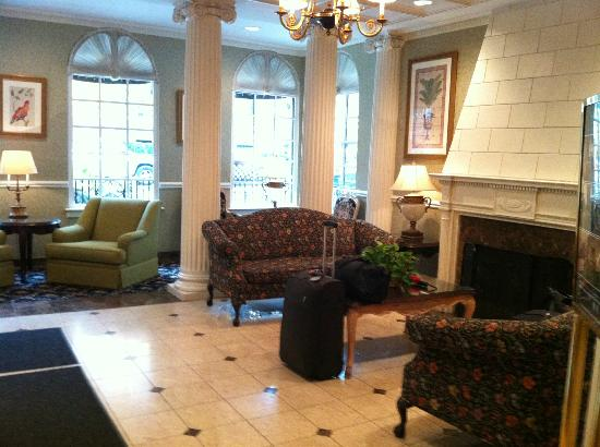 The Willows: View of foyer from the breakfast area