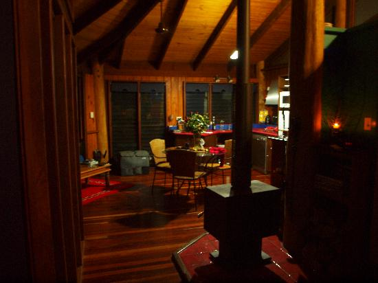 Mt Quincan Crater Retreat: View from bed towards living area