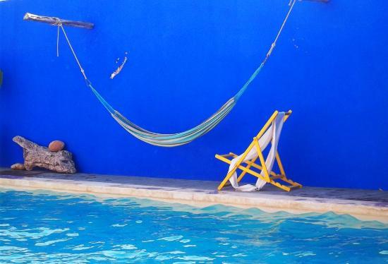 Riad Baoussala: The swimming pool hammock