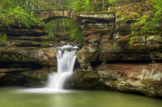 Ohio: Upper Falls at Old Man's Cave