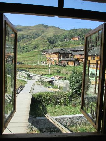 Wisdom Inn: View of the village and mountain from room