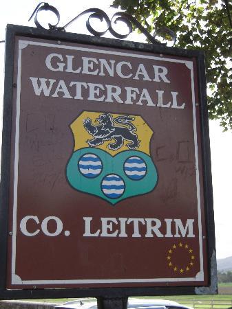 Glencar Waterfall: Sign