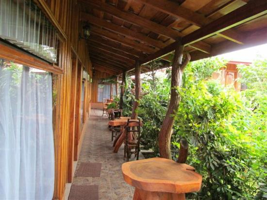 Monteverde Rustic Lodge: View down the front porches of Rustic Lodge.