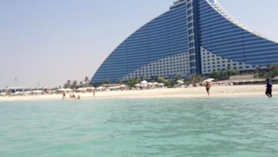 Jumeirah Beach Hotel: vista del hotel desde la playa