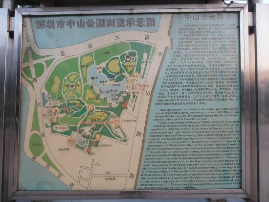 Zhongshan Park of Shenzhen: Sign