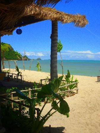 Solah Beach Bar and Restaurant: View from table