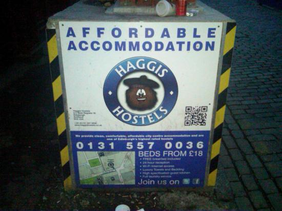 Haggis Hostels: The Haggis Hostel signs to help find your way there
