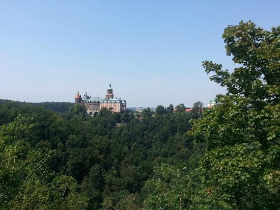 Ksiaz Castle: Zamek od strony Tarasu Widokowego