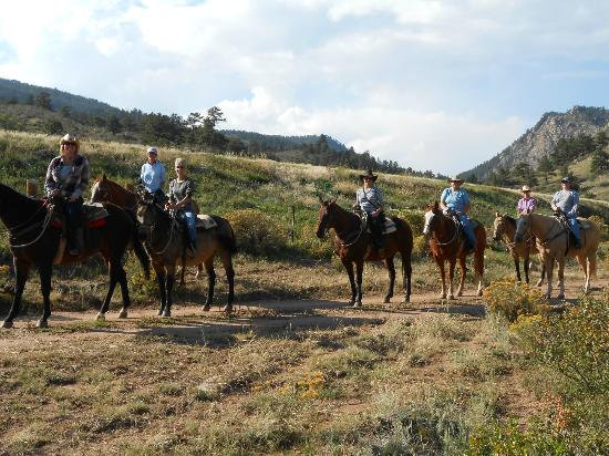Sylvan Dale Guest Ranch: Trail ride photo
