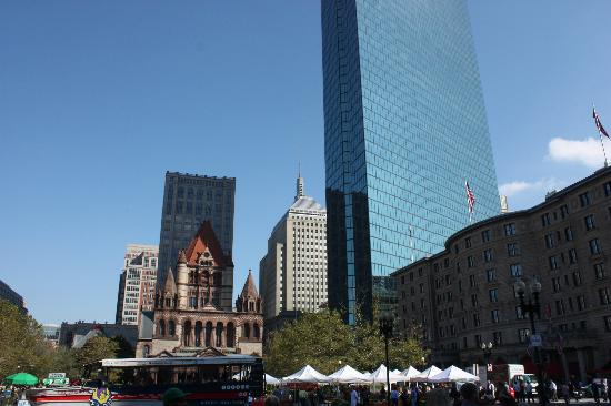 Copley Square: View from the library
