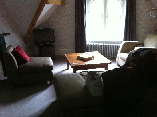 Didsbury House: Living area of loft suite