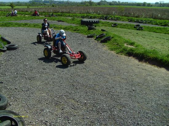 Walby Farm Park: Go Carts, a bit too hard to pedal