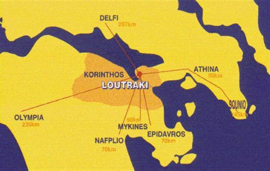 lutraki mapa loutraki map   na slici je Hotel Segas, Lutraki   TripAdvisor lutraki mapa