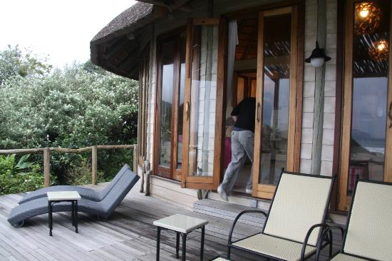Umngazi River Bungalows & Spa: out on the balcony