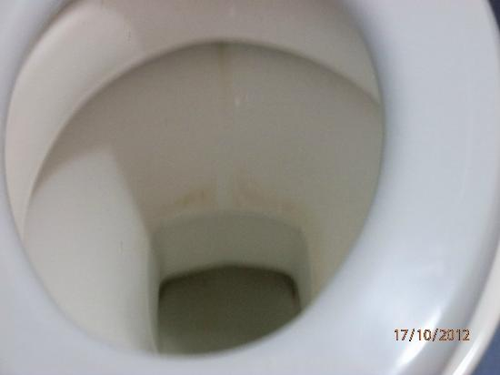 Luna Holiday Complex: Toilet bowl never cleaned