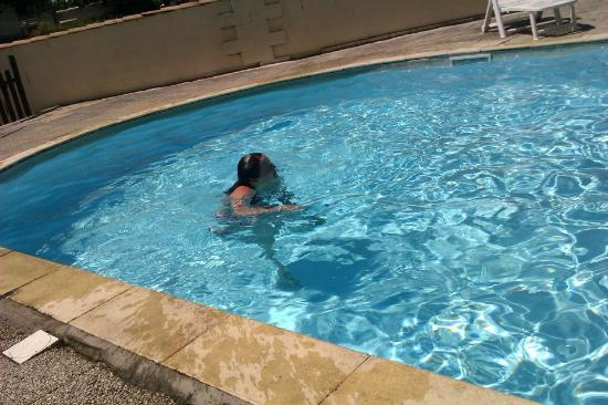 Twin Lakes: having a dip in the larger pool