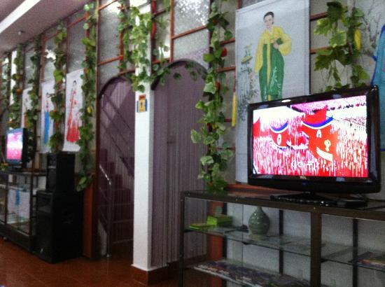Pyongyang Restaurant: Revolutionary karaoke in the background