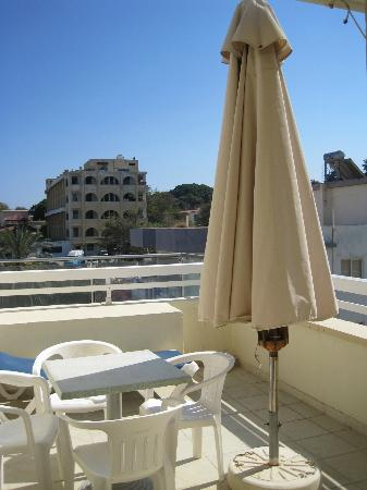 Agla Hotel: Rear Terrace