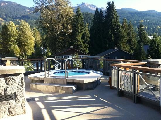 Located on 2nd floor, through the spa, one of the hot tubs at Nita Lake Lodge