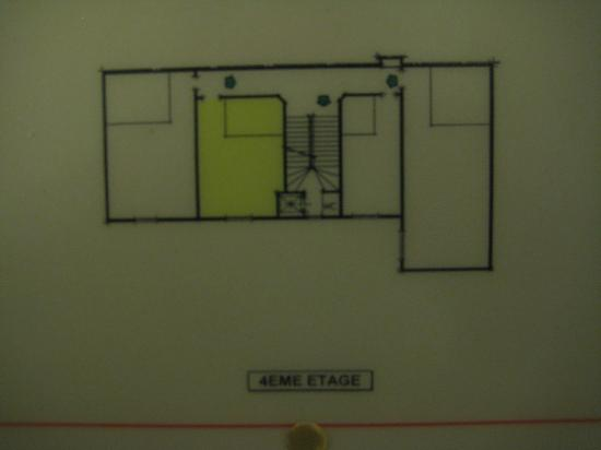 Hotel Nicolo: Fire plan, fourth floor