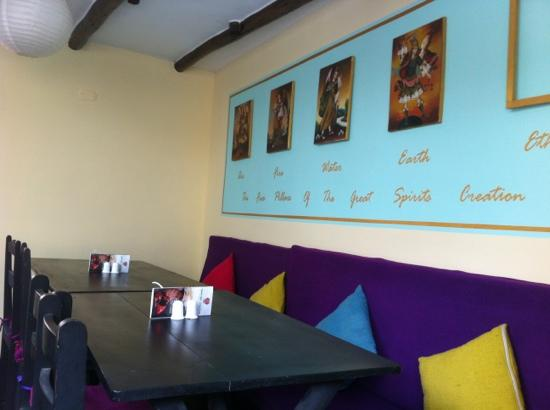 Hearts Cafe: part of upstairs decor. bright & cheery