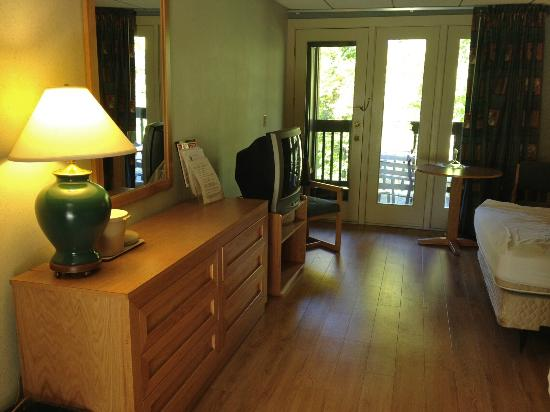 Carter Caves State Resort: Cable TV and wifi. Balcony overlooks mature forest full of deer!