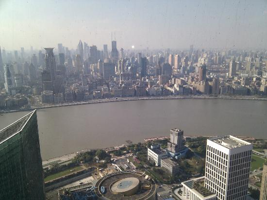 The Ritz-Carlton Shanghai, Pudong: Daytime view from room (night view is far more spectacular)