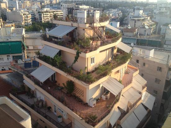 Acropolis view from top floor picture of acropolis ami for Best boutique hotels athens