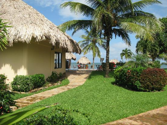 Belizean Dreams Resort: walkway from our suite