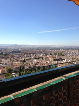 Alhambra Palace Hotel: from the terrace/bar