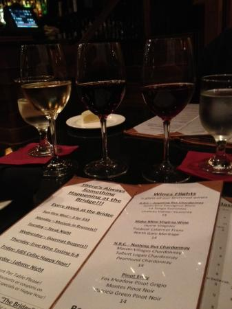 Iron Bridge Wine Company : Wine Flight menu