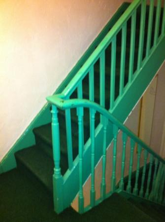 Cherry Trees Holiday Flats: green stairs