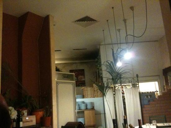 Otto e Mezzo : il soffitto ha visto giorni migliori..