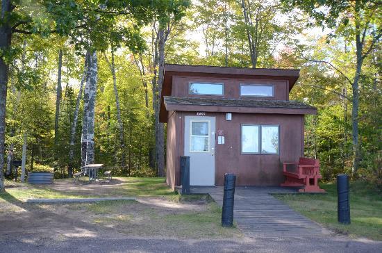 McLain State Park Campground: mini cabin