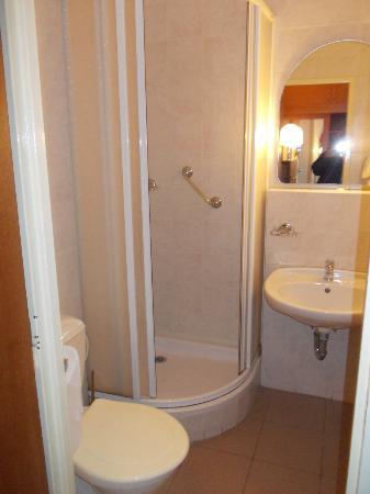 INTERHOTEL BOHEMIA: a small bathroom with everthing you need