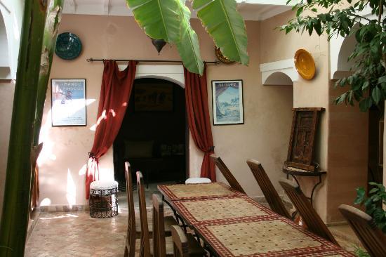 Riad Sidi Mimoune: La Salle à manger...