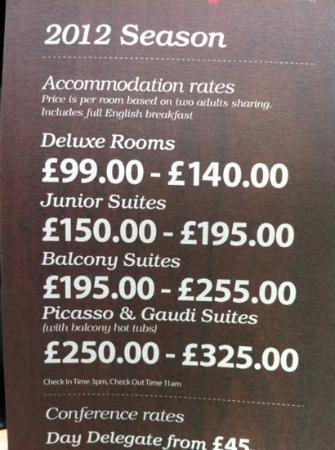 Casa Hotel: 2012 Prices